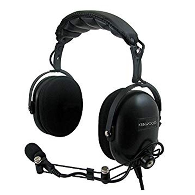 Heavy duty noise cancelling headset with PTT