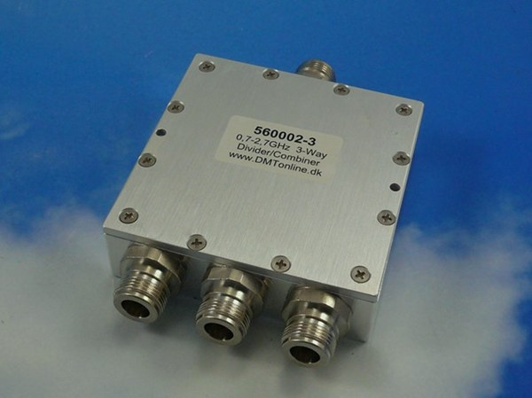 3-Way Power Divider, Combiner 0,35-1GHz