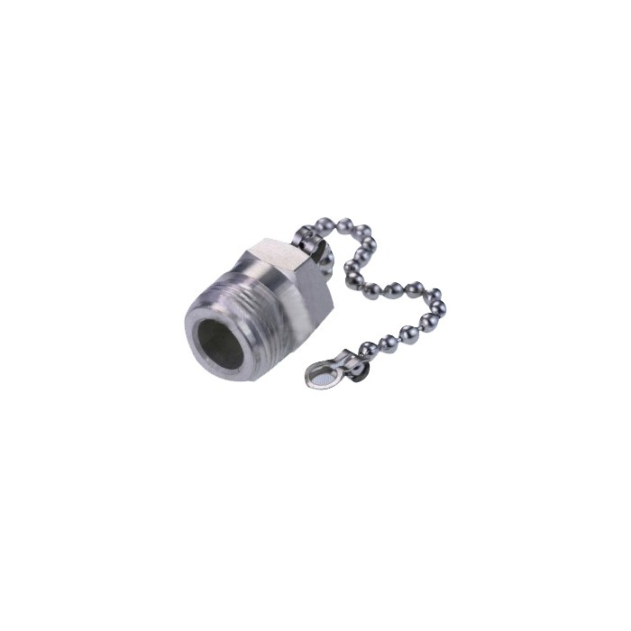 72982  N/UHF female metal cap & chain