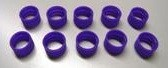 Antenna ID Band, 10 pk (Purple)