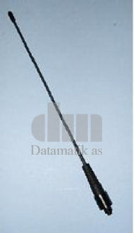 Antenne, lang, titan, 155 - 175 MHz, 440 mm