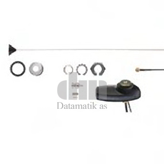ANTENNA COMBO GNSS (GPS/GALILEO/QZSS/GLONASS), UHF 403-430 MHZ 1/4 WAVE THROUGH-HOLE BNC